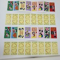 Vintage Mickey & Minnie Mouse Valentines Day Cards Unused 36 Count Hearts Love