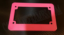 PINK MOTORCYCLE scooter blank plastic License Plate Frame