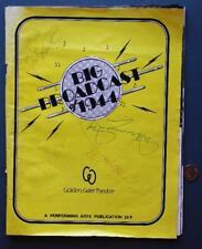 1980 San Francisco,California Big Brodcast of 1944 program-Harry James Autograph