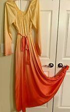 New listing Vintage Vanity Fair Loungewear/Nightgown Orange Ombre 1960s Long Sleeves Mint