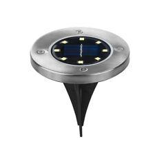 10 x LED Énergie Solaire 8-led sous sol Lampe extérieur Chemin Lampe de Pelouse