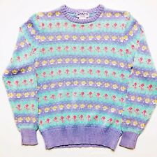Fairy Kei Vintage Sailboat Sweater By Skyr Pastel Goth Stripe Size 38