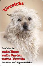 CAIRN Terrier - A4 Metall Warnschild Hundeschild SCHILD Türschild - CRT 10 T1