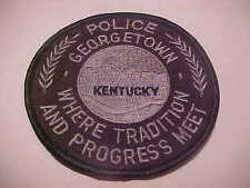 GEORGETOWN KENTUCKY POLICE PATCH IN BLACK SWAT