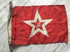 Rare !!!! USSR Navy Jack Flag Fleet Original Wool Soviet