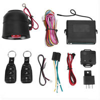 BW#A Car Vehicle Burglar Alarm Protection Keyless Security System with 2 Remotes