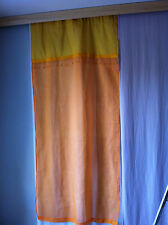 Paire de voilages orange et jaune