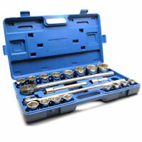 "3/4"" Socket Set Metric Sizes 21pcs 19mm to 50mm Extension Ratchet 12 Sided TE177"