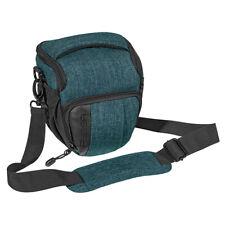 DSLR-Kameratasche Fototasche für Kameras mit Tragegurt, Zubehörfächer, M petrol