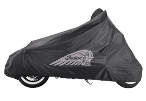 INDIAN MOTORCYCLE BLACK FULL ALL WEATHER LOGO COVER FOR 2014-2020 CHIEF MODELS