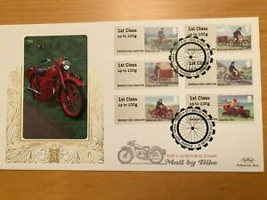 2018 Benham Gold Post & Go Mail by Bike  First Day Cover Set of 6 stamps