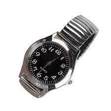 2017 Fashion Mens Womens Lovers Watch Quartz Analog Large Dial Watches black SQ