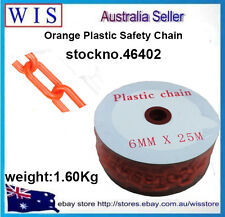 Orange Plastic Safety Chain 6mm x 25 meter roll,Plastic Barrier Chain-46402