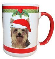 Yorkie Christmas Coffee Mug 15 oz E&S Pets Dog Puppy Tea Cup Holiday Gift