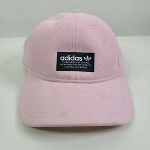 Adidas Men's Originals Pique Precurve Pink Black Baseball Cap