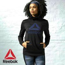 Women'S Reebok Crossfit Graphic Black Pullover Hoodie Speedwick ~ Size M