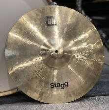 """More details for stagg dh double hammered 17"""" medium crash cymbal #649"""