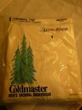 Coldmaster Thermal Top Shirt Underwear Long John Size Med. Usa Made