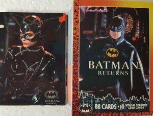 1992 Topps Batman Returns Trading Card Set of 88 + 10 Stadium Cards