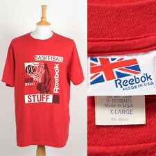 MENS VINTAGE REEBOK MADE IN THE USA T-SHIRT BASKETBALL RED CREW NECK XL b7b679bf31