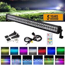 "32 inch 180W Off road Led Light Bar w/ Multi Color RGB Halo Truck SUV ATV PK 30"""