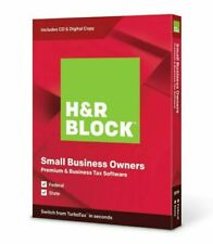 H&R Block Small Business Owners Premium 2019 Windows Federal + State
