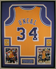 722d1ccaf34 SHAQUILLE O'NEAL , AUTOGRAPHED LOS ANGELES LAKERS FRAMED JERSEY w/ JSA/COA