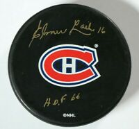 Elmer Lach Signed Autographed Montreal Canadiens Puck Beckett COA NHL
