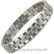 NEW Gents Mens TITANIUM Magnetic Bracelet Magnet Therapy Health Strong