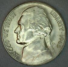 1945 S Jefferson Memorial Silver Nickel 5c US Coin Five Cents Silver BU K73