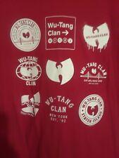 WU TANG CLAN T-shirt NWT red  size LG Hip Hop Rap Tee Men's 100% Cotton