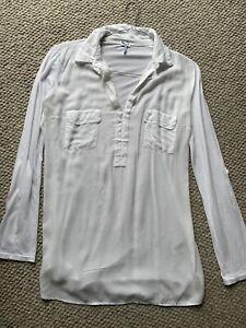 SPLENDID Women's White Rayon & Cotton Blouse Size SMALL Worn Once Like New