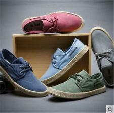 Chinese style Men Canvas Espadrilles Derby Lace-up Casual Knitted Shoes Sneakers