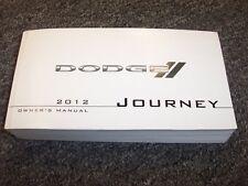2012 Dodge Journey Owner Owner's Operator Manual SE SXT R/T Lux 2.4L 3.6L V6