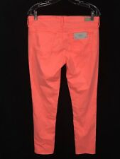 Adriano Goldschmied The Stilt Cigarette Leg Jeans Coral Womens 30R Tags 32 x 30