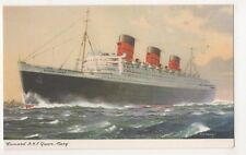 Cunard Rms Queen Mary Shipping Art Postcard, Us006