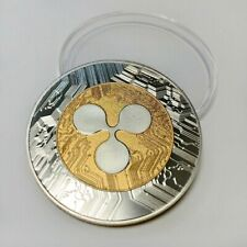Gold & Silver Plated Ripple XRP Crypto collectable Novelty Coin