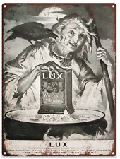 1905 Lux Soap Witch Halloween Advertising Ad Baked Metal Repro Sign 9x12 60154