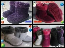 NEW FURRY GLITTER BOOTS FOR TODDLERS Many Sizes GREAT FOR CHRISTMAS/WINTER