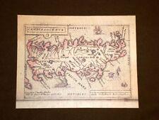 Mappa Candia Theatrum Orbis Terrarum 1724 Abraham Ortelius Ortelio Ristampa