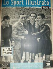 LO SPORT ILLUSTRATO N 17 1951 INTER FRANZOSI ACHILLI GP DI SAN REMO ASCARI