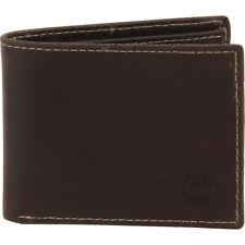Timberland Men's Delta Brown Genuine Leather Slim-Fold Wallet