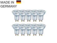10 x OSRAM LED BASE PAR16 GU10 Strahler GLAS 36° 2700K 3.6W wie 50W