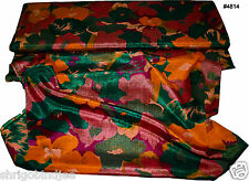 Beautiful Indian Art Silk Fabric Multi Colour Floral Print Selling by Yard 4814