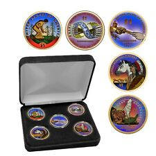 2009 - 2013 Celebrating Native American Contributions Colorized Dollar Set