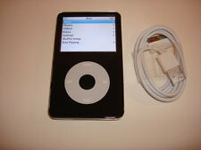 APPLE  IPOD  VIDEO  5.5  GEN.  CUStOM THIN  BLACK  60GB...NEW  HARD DRIVE...