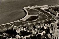 Cuxhaven Nordsee Bad Grimmershörn Postkarte 1959 gelaufen Strand Meer Luftbild