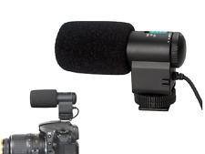 MIC-109 Mini External Stereo Microphone for Nikon Canon DSLR Camera DV Camcorder