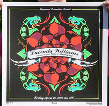 LUCINDA WILLIAMS RARE  SILKSCREEN 2007 GIG POSTER / SIGNED BY THE ARTIST