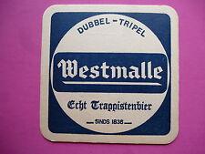 Beer Coaster: Westmalle Abby Brewery~ Dubble -Tripel ~ Echt Trappistenbier ~1836